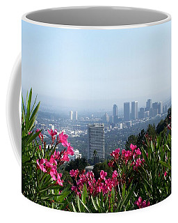 Coffee Mug featuring the photograph L.a. From Beverly Hills by Dany Lison