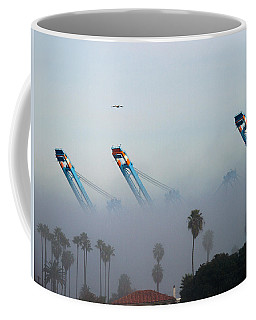 La Harbor Never Sleeps Coffee Mug by Joe Schofield