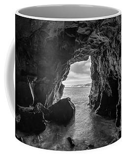 La Jolla Cave Bw Coffee Mug