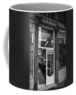 La Moda Ideal Fabrics Store Bw Coffee Mug