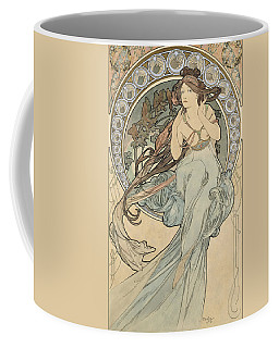 La Musique, 1898 Watercolour On Card Coffee Mug by Alphonse Marie Mucha