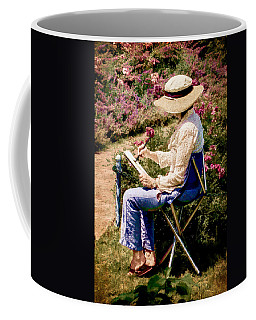 Coffee Mug featuring the photograph La Peintre by Chris Lord