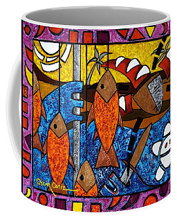 Coffee Mug featuring the painting La Pesca Virgen De Un Hombre Honrado by Oscar Ortiz