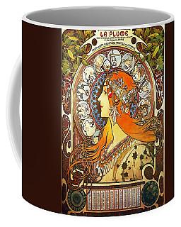 La Plume Zodiac Coffee Mug by Alphonse Mucha