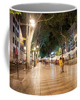 La Rambla At Night  In Barcelona Coffee Mug