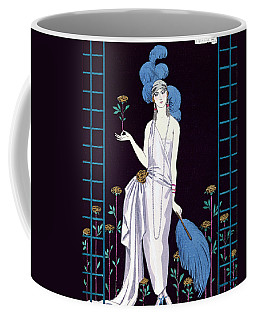 'la Roseraie' Fashion Design For An Evening Dress By The House Of Worth Coffee Mug
