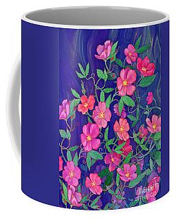 Coffee Mug featuring the mixed media La Vie En Rose by Teresa Ascone