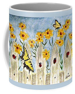 Ladies In The Garden Coffee Mug by Angela Davies