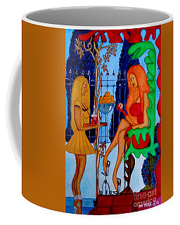 Coffee Mug featuring the painting Lady And Her Maid by Don Pedro De Gracia