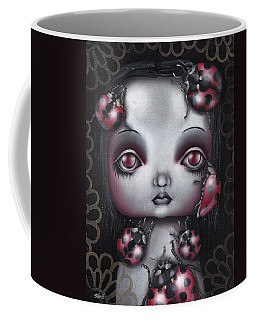 Lady Bug Girl Coffee Mug