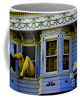 Lady In A Window Coffee Mug