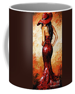 Lady In Red 035 Coffee Mug