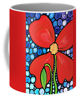 Lady In Red 2 - Buy Poppy Prints Online Coffee Mug