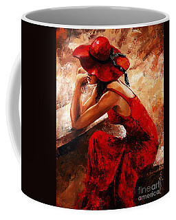 Lady In Red 21 Coffee Mug