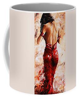Lady In Red #24 Large  Coffee Mug