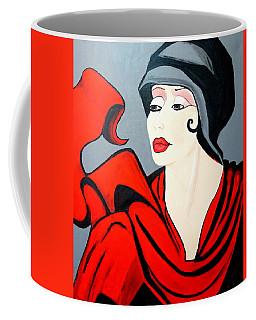 Lady In Red  Art Deco Coffee Mug