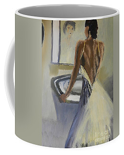 Coffee Mug featuring the painting Lady In The Mirror by Pamela  Meredith