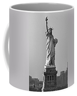 Lady Liberty Black And White Coffee Mug