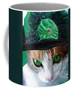 Lady Little Girl Cats In Hats Coffee Mug by Michele Avanti