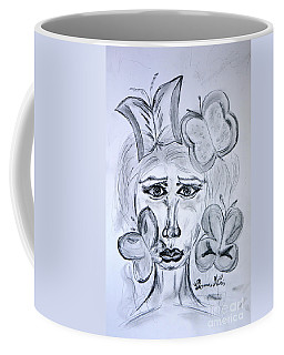 Lady Queen Of Butterflies Coffee Mug by Ramona Matei