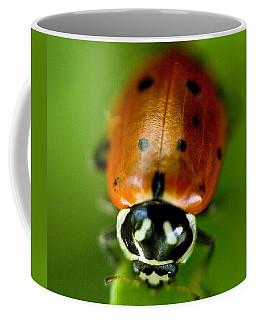 Ladybug On Leaf Coffee Mug