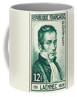 Laennec 1781-1826 Stamp Coffee Mug by Lanjee Chee
