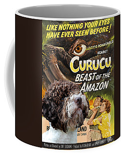 Lagotto Romagnolo Art Canvas Print - Curucu Movie Poster Coffee Mug