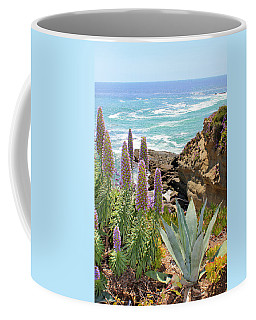 Laguna Coast With Flowers Coffee Mug