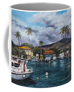 Coffee Mug featuring the painting Lahaina Harbor by Darice Machel McGuire