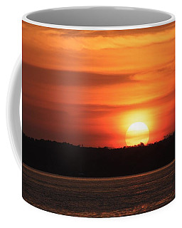 Lake Conroe Sunset Coffee Mug by Ellen O'Reilly