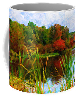 Lake In Early Fall Coffee Mug