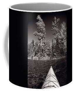 Lake Kayaking Bw Coffee Mug