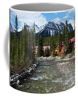 Coffee Mug featuring the photograph Lake Louise Village - Canada by Phil Banks