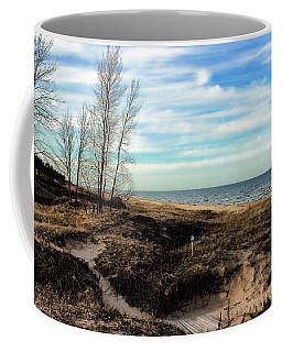 Coffee Mug featuring the photograph Lake Michigan Shoreline by Lauren Radke
