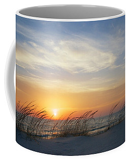 Lake Michigan Sunset With Dune Grass Coffee Mug