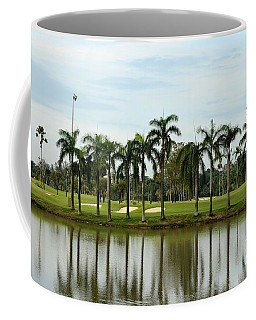 Lake Sand Traps Palm Trees And Golf Course Singapore Coffee Mug