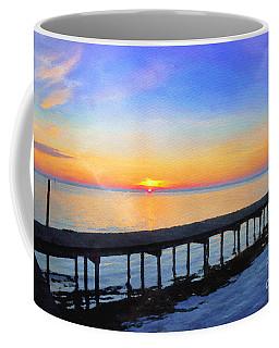Lake Sunrise - Watercolor Coffee Mug