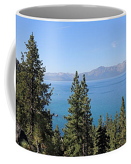 Lake Tahoe Through The Trees Coffee Mug