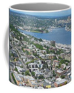 Lake Union Panorama Coffee Mug by David Trotter