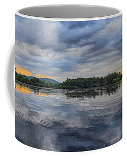 Lake Wausau Summer Sunset Panoramic Coffee Mug