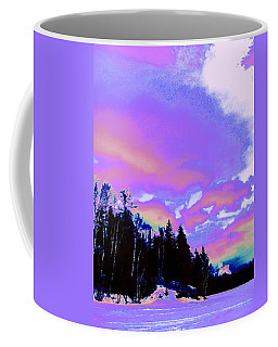 Winter  Snow Sky  Coffee Mug by Expressionistart studio Priscilla Batzell