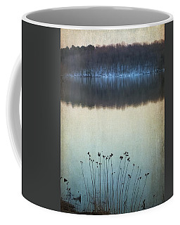 Lakeside Winter Flowers Coffee Mug
