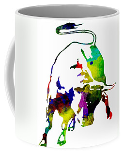 Lamborghini Bull Emblem Colorful Abstract. Coffee Mug by Eti Reid