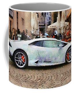 Lamborghini Huracane Lp 610-4 Parked In The City Coffee Mug