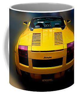 Lamborghini In Yellow Coffee Mug