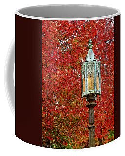 Lamp Post In Fall Coffee Mug
