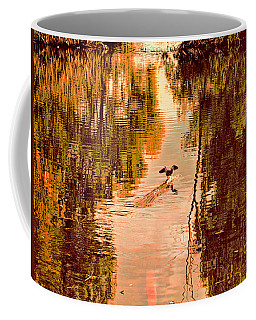 Landing Duck Absrtact Coffee Mug by Leif Sohlman