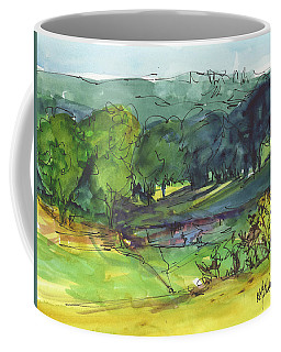 Landscape Lakeway Texas Watercolor Painting By Kmcelwaine Coffee Mug
