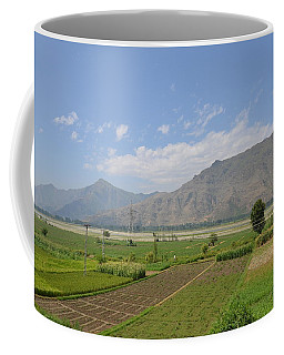 Coffee Mug featuring the photograph Landscape Of Mountains Sky And Fields Swat Valley Pakistan by Imran Ahmed