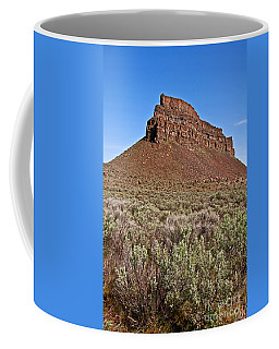 Landscape Sagebrush And High Rocky Mountain Bluff Art Prints Coffee Mug by Valerie Garner